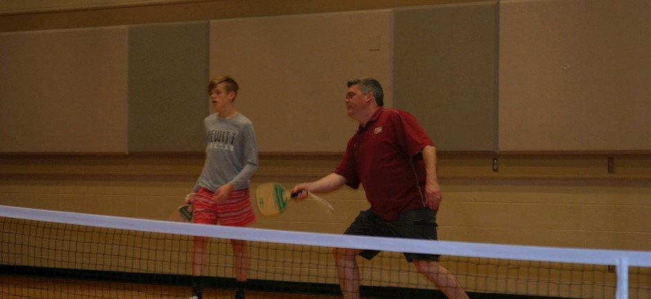 father and son playing pickleball in trussville alabama, alabama pickleball, trussville pickleball, birmingham pickleball