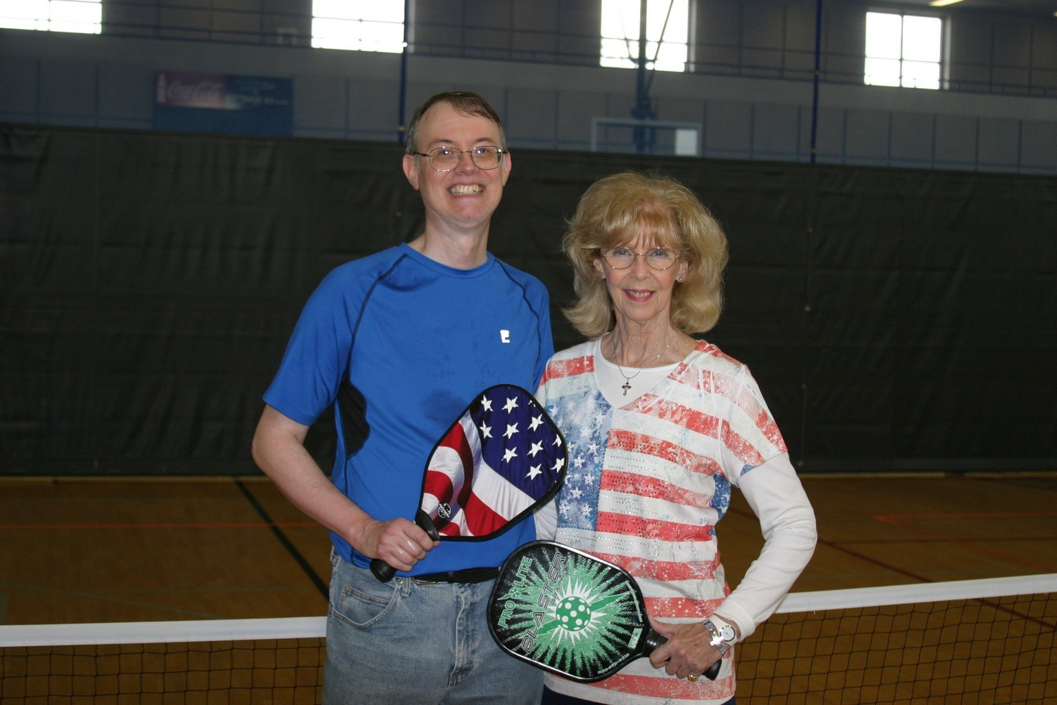 mother and son playing pickleball in trussville alabama, alabama pickleball, trussville pickleball, birmingham pickleball